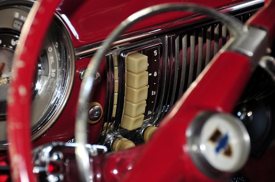 Classic Car Photograph - Push Buttons by David Lee Thompson
