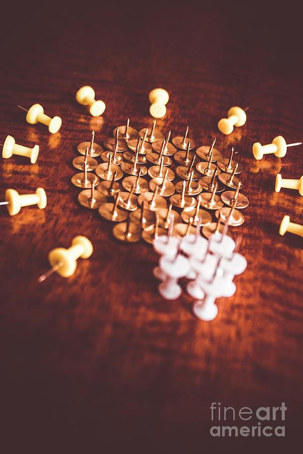 Pushpins and thumbtacks arranged as light bulb photograph by jorgo office photograph pushpins and thumbtacks arranged as light bulb by jorgo photography wall art aloadofball Image collections