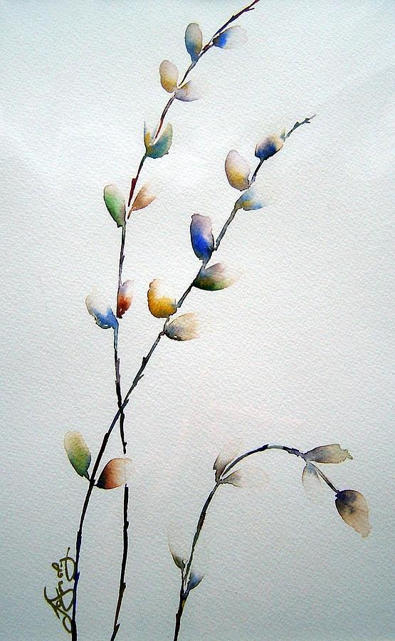 Pussy Willow Branches Painting - Pussy Willows by Joanne Smoley
