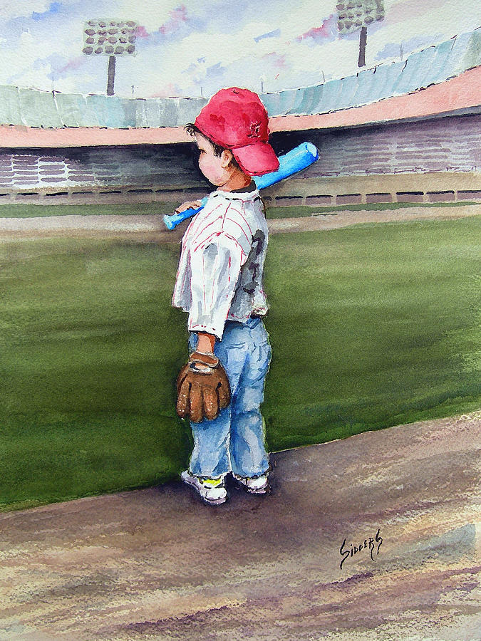 Baseball Painting - Put Me In Coach  by Sam Sidders