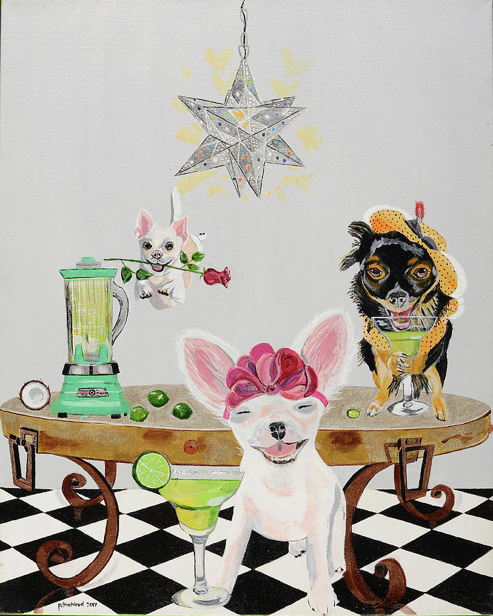 Chihuahua Painting - Put The Lime In The Coconut by Pamela Trueblood