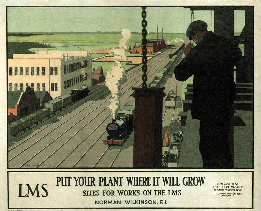 Put Your Plant Where It Will Grow - Lms - Locomotive - Retro Travel Poster - Vintage Poster Mixed Media