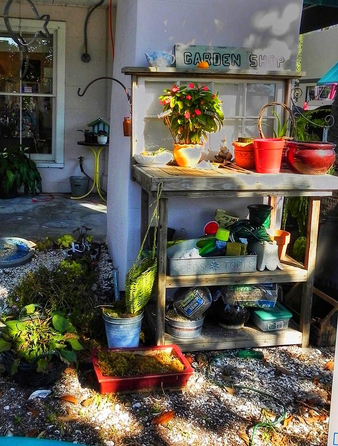Potting Bench  by Patricia Greer