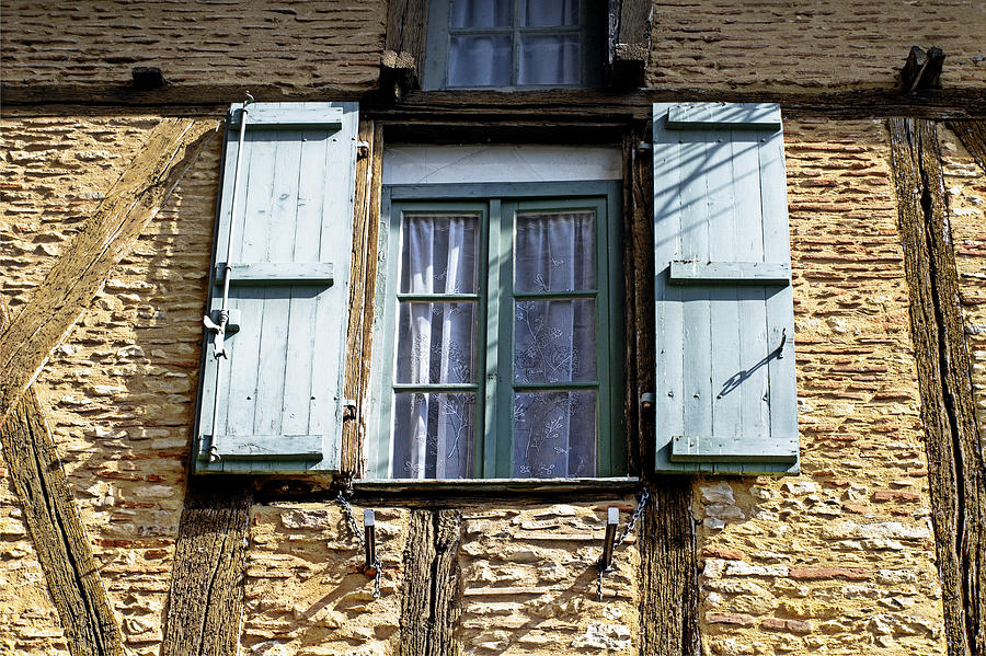 Windows Photograph - Puy Leveque Window by Georgia Fowler