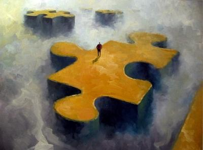 Metaphors Painting - Puzzle by Andrew Judd