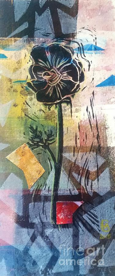 Puzzled Floral by Cynthia Lagoudakis