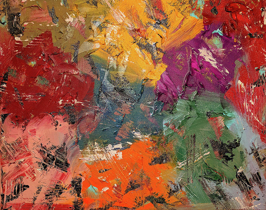 Abstract Painting Painting - Puzzlement by Trisha Pena