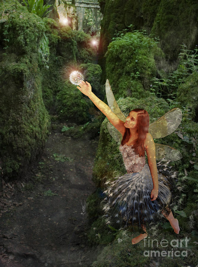 Fairy Digital Art - Puzzlewood Fairy by Patricia Ridlon