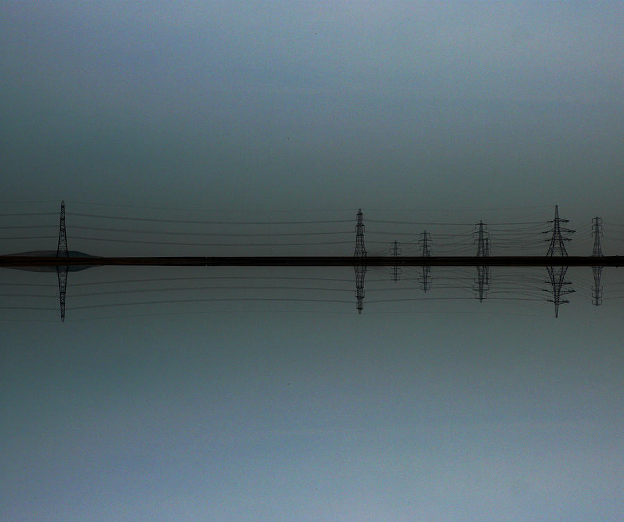 Electricity Photograph - Pylons by Sean Welsby