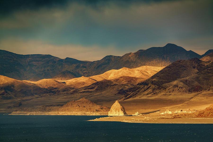 Last Light on Pyramid Lake by Janis Knight