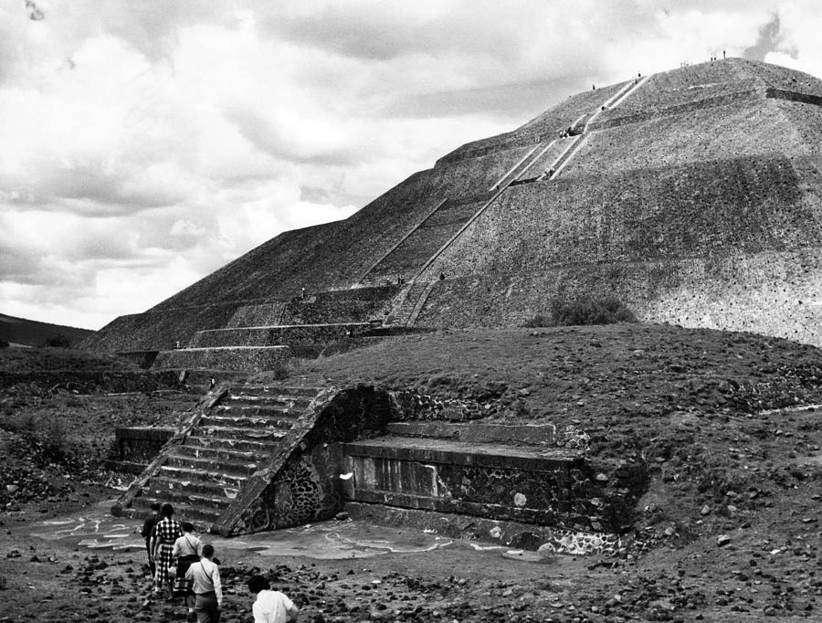 1960s Photograph - Pyramid Of The Sun, In The Pre-aztec by Everett