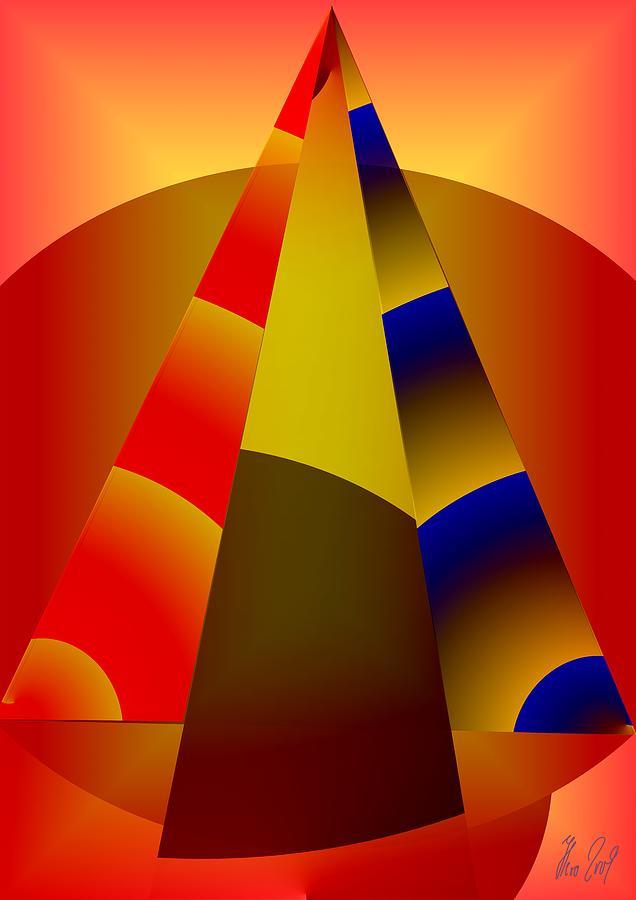 Pyramids Digital Art - Pyramids Pendulum by Helmut Rottler