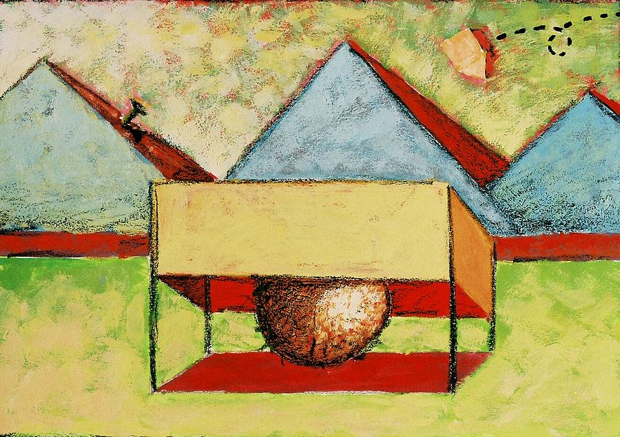 House Painting - Pyramids by Ronald Walker
