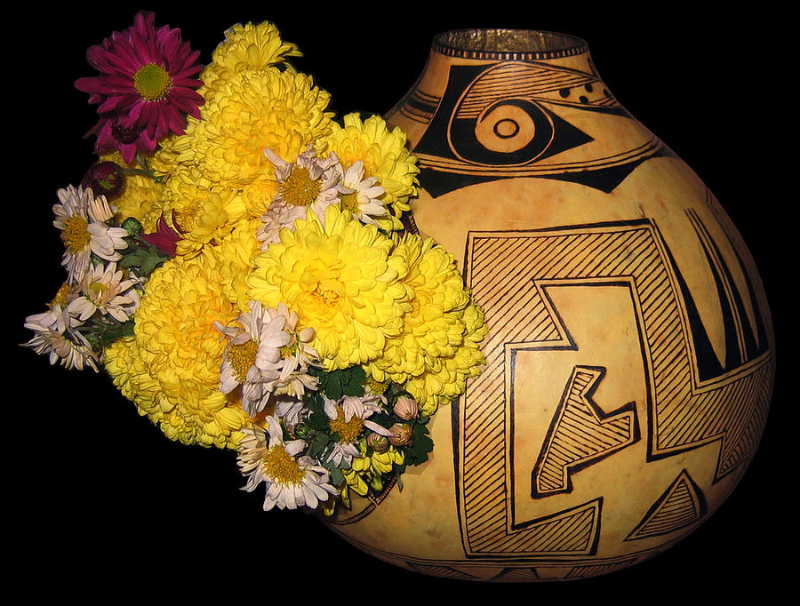 Decorative Pyrography - Pyro Gourd 43a by Dino Muradian