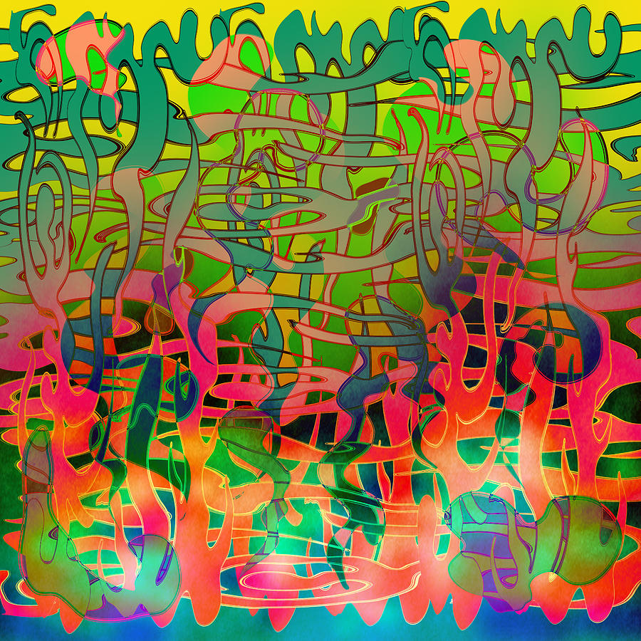 Abstract Digital Art - Pyschedelic Alba by Grant  Wilson