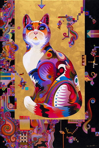 Geometry Abstracted. Painting - Pythagorus Cat by Bob Coonts
