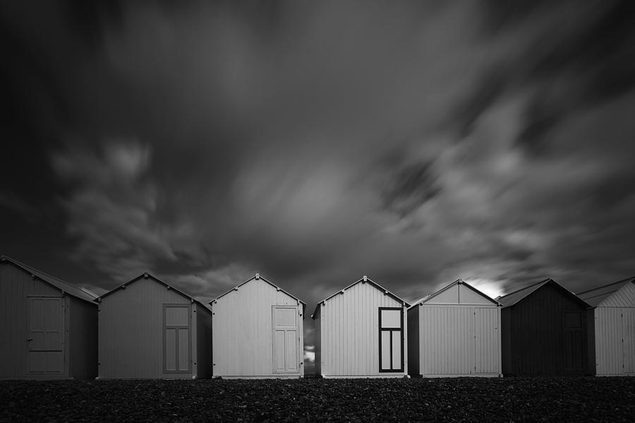 Beach Cabin Photograph - Q by Massimo Della Latta