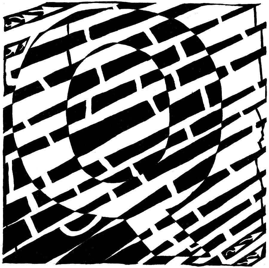 Q Drawing - Q Maze by Yonatan Frimer Maze Artist