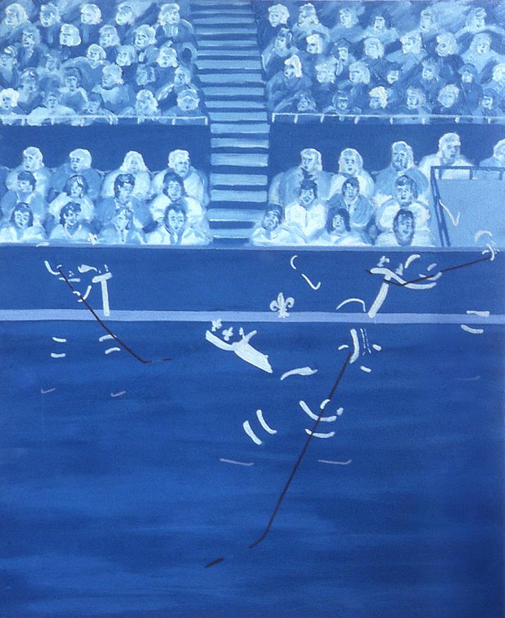 Ice Hockey Painting - Q N by Ken Yackel