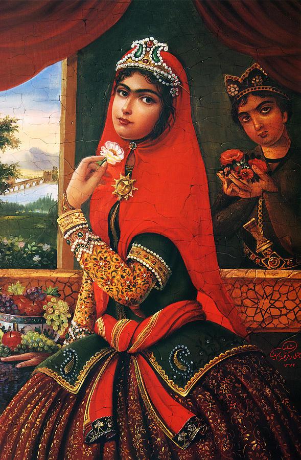 Qajar Woman By Shakiba Gl8 Painting by Salma