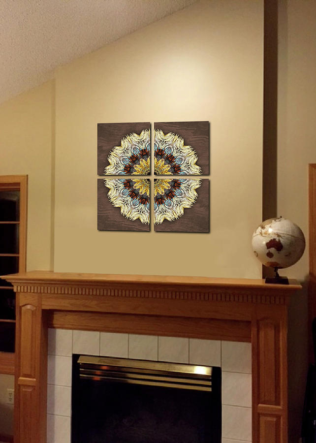 Quad Wall Grouping Sample by Martha Miller