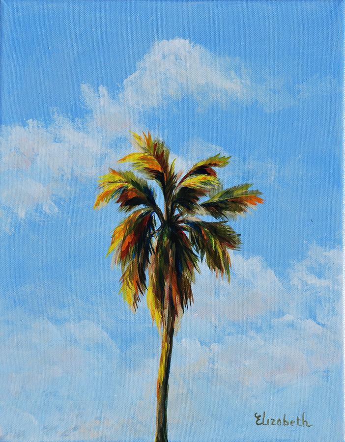 Palm Tree Painting - Quad Palms 3 Of 4 by Beth Maddox
