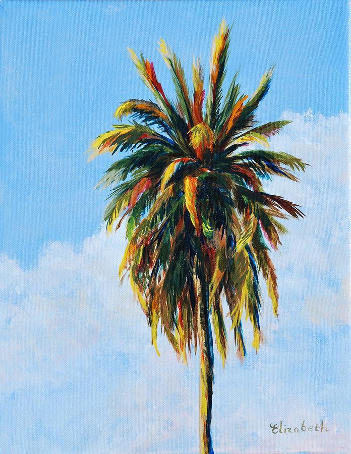 Palm Tree Painting - Quad Palms 4 Of 4 by Beth Maddox