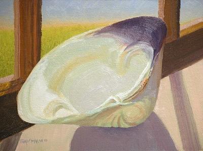 Still Life Painting - Quahog Shell by Thaw Malin III