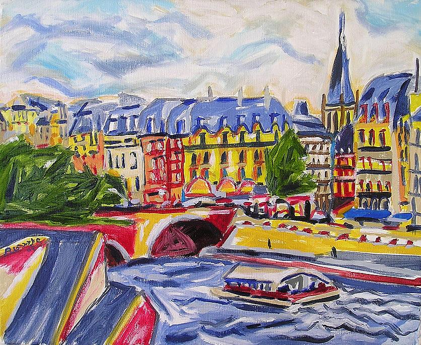 Paris Painting - Quai Des Grands Augustins by Nancy Rourke