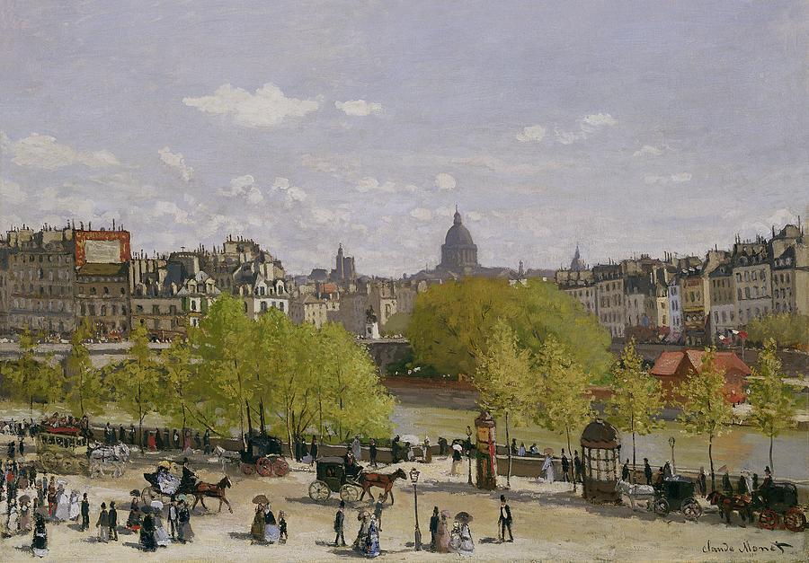 Busy Painting - Quai Du Louvre In Paris by Claude Monet