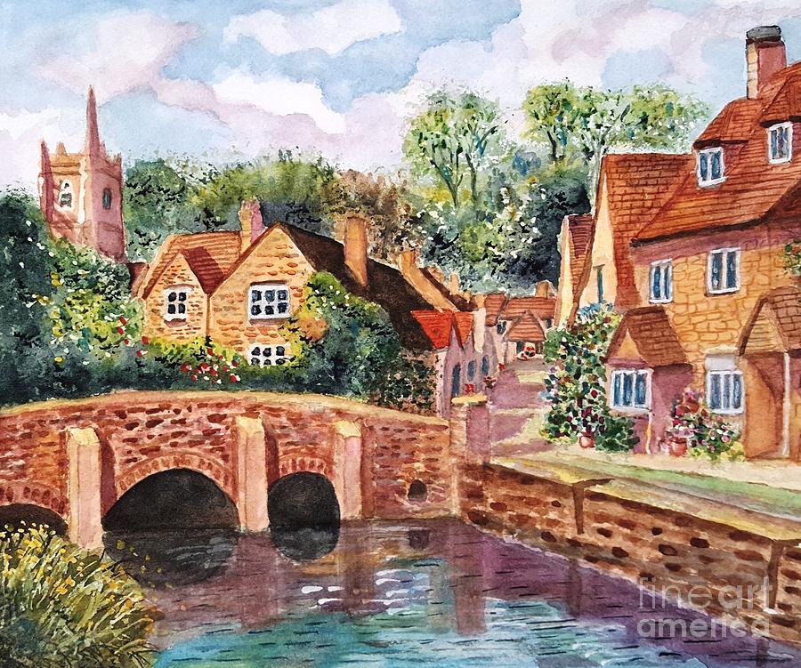 Quaint English Village Painting by Sue Carmony Quaint English Village