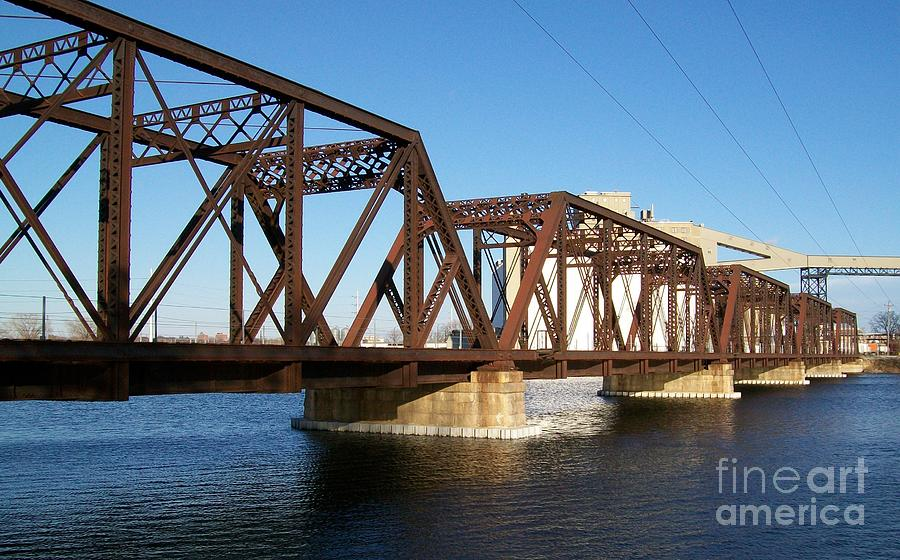 Photo Photograph - Quaker Oats Old Railway Bridge by Marsha Heiken