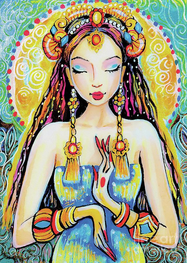 Indian Goddess Painting - Quan Yin by Eva Campbell