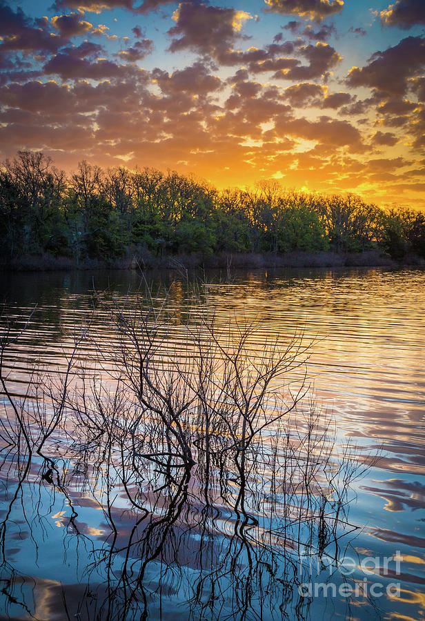 America Photograph - Quanah Parker Lake Sunrise by Inge Johnsson