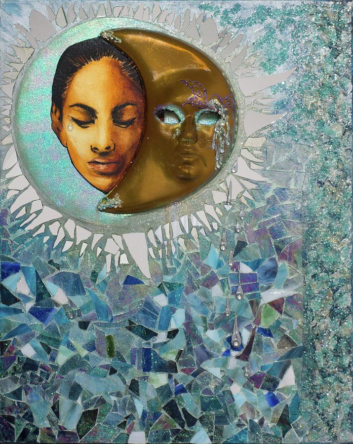 Quando La Luna Llora  Mixed Media by Carmen R Sonnes
