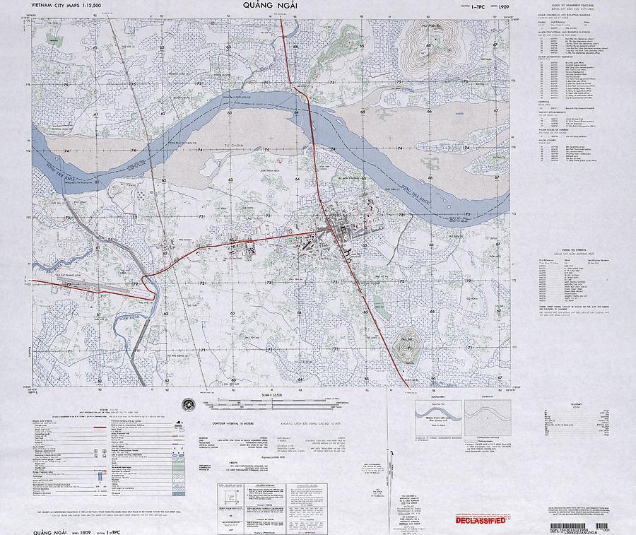 Quang Ngai Vietnam Map.Quang Ngai South Vietnam 1966 Photograph By Maps Of Vietnam