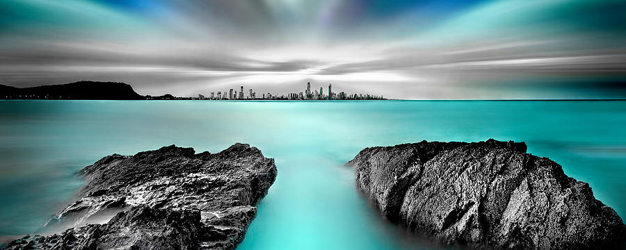 Gold Coast Photograph - Quantum Divide Panorama by Az Jackson
