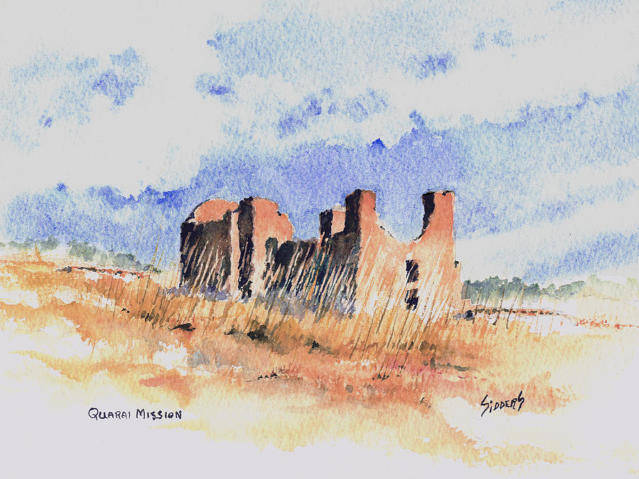New Mexico Painting - Quarari Mission by Sam Sidders