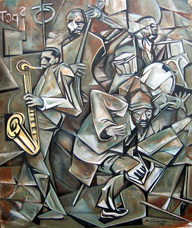 Quartet 1958 Painting by Martel Chapman