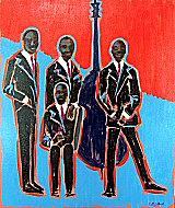 Jazz Quartet Painting - Quartet by Beth Brightwell