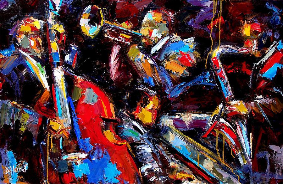 Quartet Painting by Debra Hurd