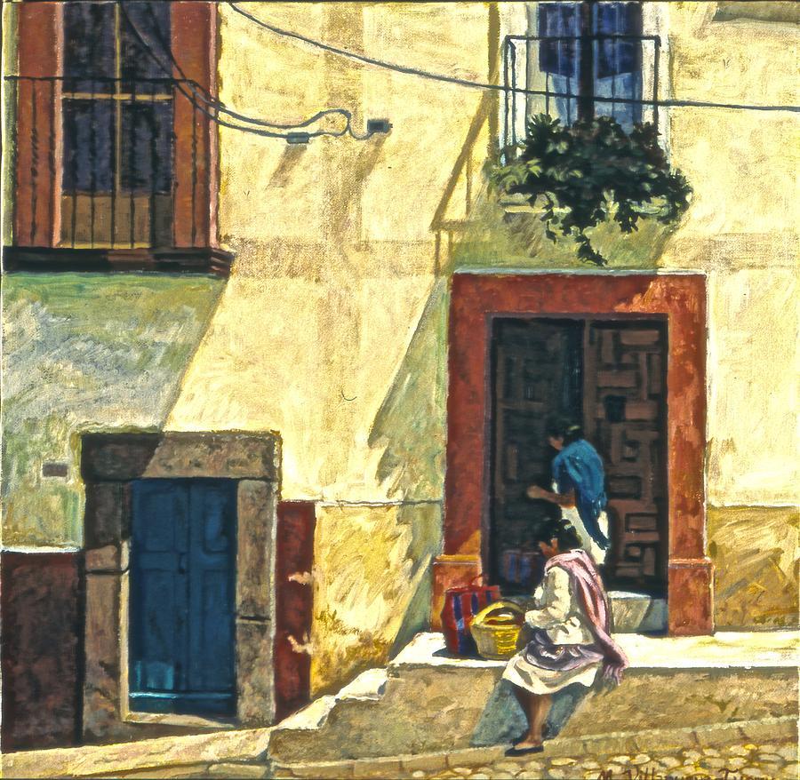 Quatro Puertas, Mexico Painting by Mary Villanueva-Tuomy