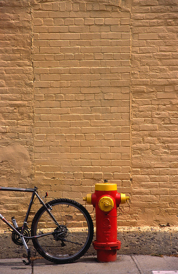 Bicycle Photograph - Quebec Hydrant by Art Ferrier
