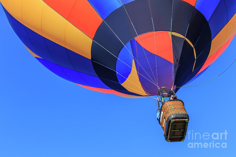Hot Air Balloon Photograph - Quechee Vermont Hot Air Balloon Festival by Edward Fielding