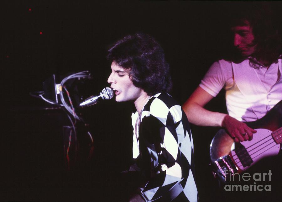 Queen Photograph - Queen 1975 Freddie Mercury by Chris Walter