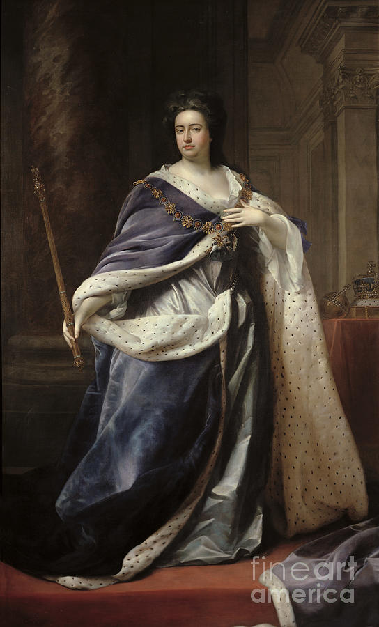 Queen Painting - Queen Anne by Edmund Lilly