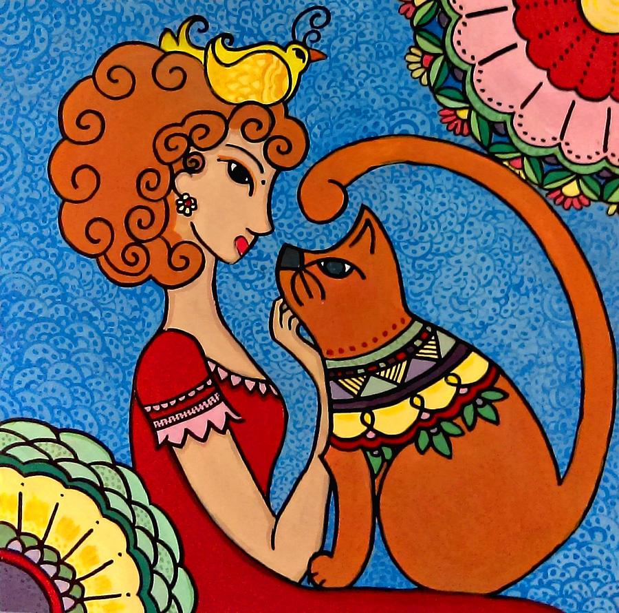 Caroline Painting - Queen by Caroline Sainis
