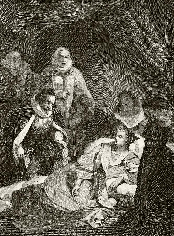 Queen Elizabeth I On Her Deathbed. From Drawing by Vintage ...