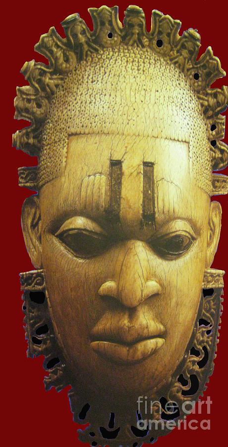 Head Digital Art - Queen Idhia by Joe Ibenegbu Azunna
