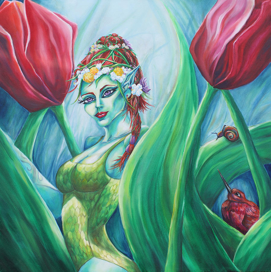 Fairy Painting - Queen Maeves Realm by Lori Kuhn